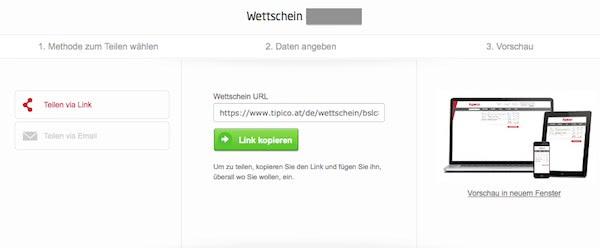 Tipico Wettschein Code
