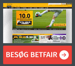 Odds hos Betfair
