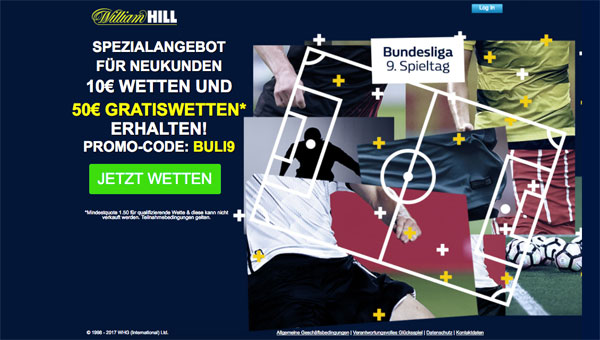 Neukunden-Special William Hill