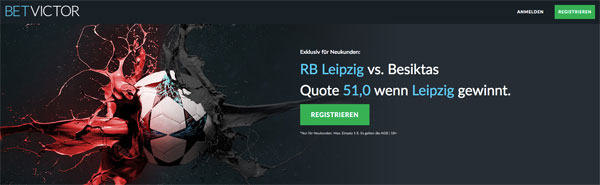 BetVictor Top-Quote Champions League