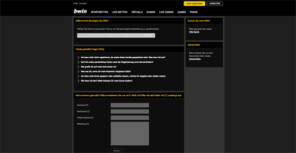 Bwin Live Chat