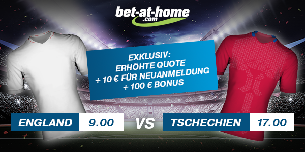 Bet at home Top Quoten England Tschechien Wetten