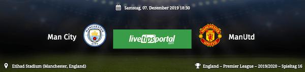 City gegen United Vorschau