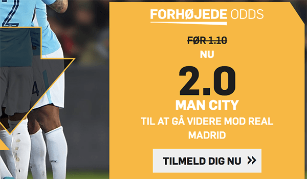 Man City - Real Madrid odds boost