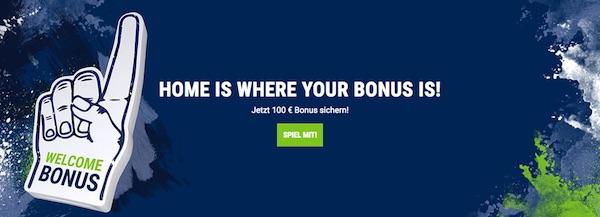 Bet at home Bonus bis zu 100 Euro für deutsche Kunden