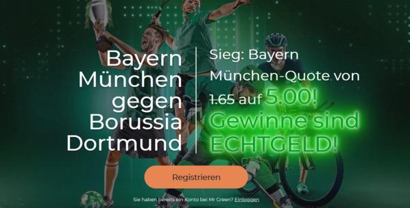 MrGreen Bayern Dortmund Boost