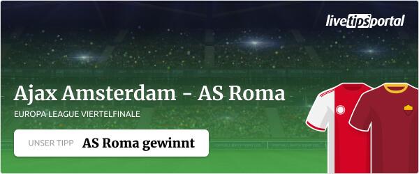 Europa League Wett-Tipp zu Ajax gegen AS Roma