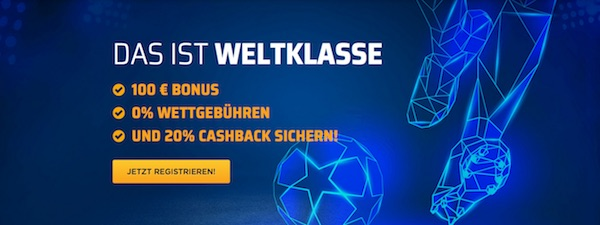 Bet3000 Bonus für Neukunden bis zu 100 Euro