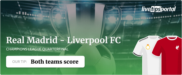 Real Madrid vs Liverpool betting tip