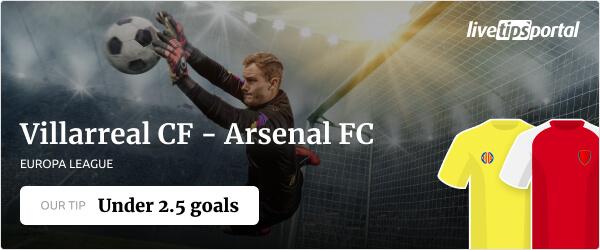Villarreal vs Arsenal Europa League betting tip