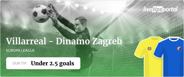 Betting tip Villarreal vs Dinamo Zagreb