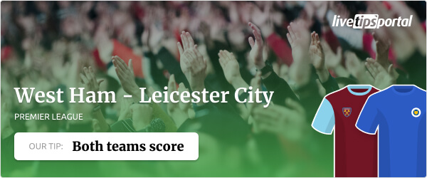 West Ham United vs. Leicester City betting tip