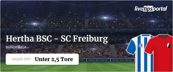 Wett-Tipp zur Bundesliga Partie Hertha BSC gegen SC Freiburg
