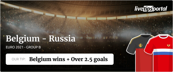 Belgium vs Russia EURO 2020 betting tip