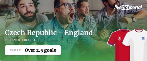 Czech Republic vs England EURO 2020 betting tip