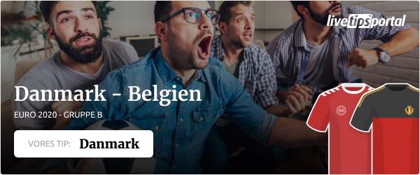 Danmark versus Belgien EURO 2020 odds tip