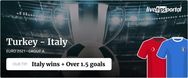 EURO 2020 betting tip Turkey vs Italy