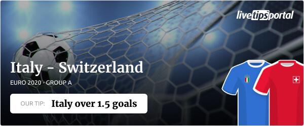 Italy vs Switzerland EURO 2020 betting tip