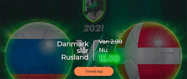 Rusland - Danmark odds bonus