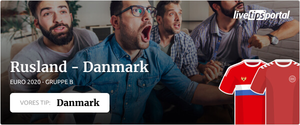 Rusland vs. Danmark EURO 2020 odds tip