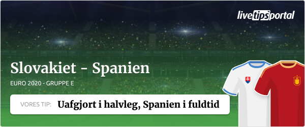 Slovakiet vs. Spanien EURO 2020 odds tip