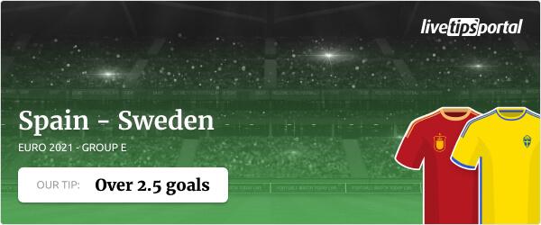 Spain vs Sweden EURO 2020 betting tip