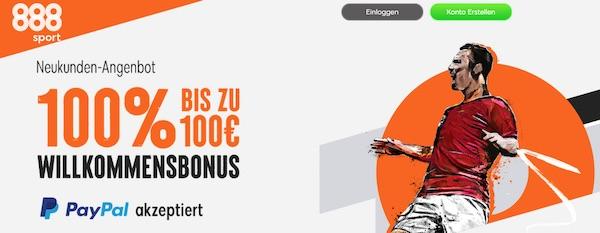 888sport 100 Euro Bonus für Neukunden