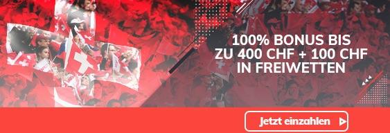 Bahigo 400 CHF Bonus
