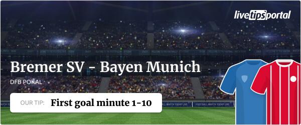 Bremer SV vs Bayern Munich DFB Pokal betting tip