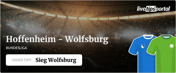 Wett Tipp auf TSG Hoffenheim gegen VfL Wolfsburg